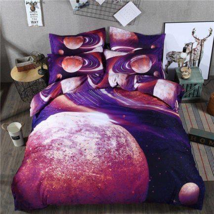3d постельное белье космос