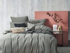Комплект постельного белья однотонный сатин