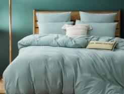 Однотонное постельное сатин